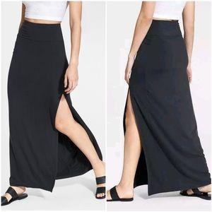 🌹Athleta Marina High Slit Maxi Skirt Black Small